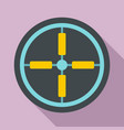 optical aim sight icon flat style vector image vector image