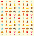 pixel art food computer design seamless pattern vector image vector image