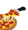 Pizza Pepperoni slices vector image