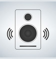 portable music speacker icon in simple style vector image vector image