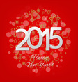 Red New Year Card vector image vector image