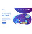 renewable energy concept landing page vector image vector image