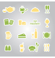 restaurant and pub stickers eps10 vector image