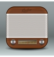 Retro radio app icon vector image