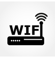 router and Wi fi icon vector image vector image