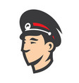 russian police head sign vector image vector image