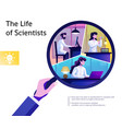 science life abstract composition vector image