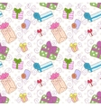 Seamless gift boxes pattern vector image