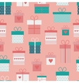 seamless pattern with flat gift boxes vector image vector image