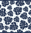 seamless pattern with tropical monstera leaves vector image vector image