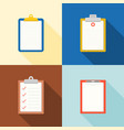 set of clipboard icon vector image