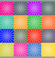 set of retro ray backgrounds colorful vector image vector image