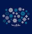 set snowflakes design element vector image