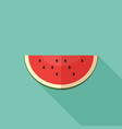slice of watermelon vector image vector image