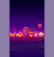 smartphone background with night carnival funfair vector image vector image