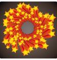 stars swirl vector image