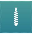 striped necktie icon vector image