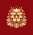 style crowned lion creepy vector image vector image