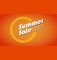 summer sale fantastic offers 3d vector image