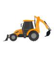 tractor bucket icon flat style vector image vector image