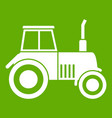 tractor icon green vector image