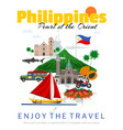 travel to philippines poster vector image vector image