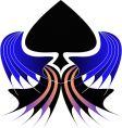 tribal spade design vector image vector image