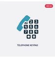 two color telephone keypad icon from user vector image vector image