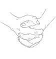 two hands1 vector image vector image