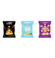 various potato chips bags vector image vector image