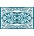 vintage flower motif arabic retro pattern vector image vector image