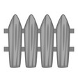 wooden picket fence icon monochrome vector image vector image