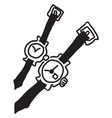 wrist watch time for two vector image vector image