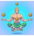 yoga man in a lotus position vector image vector image