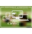 Flat responsive design kit vector image