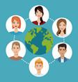 worldwide people communication social media vector image