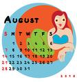 2016 september virgo vector image vector image
