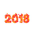 2018 happy new year isolated on white vector image