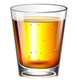 A glass of cocktail drink vector image vector image