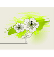 abstract ikebana vector image vector image