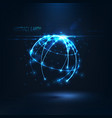 abstract shape of glowing circles and particles vector image vector image