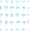 abstract trees and leaves vector image vector image