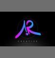 ar artistic brush letter logo handwritten