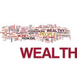 attract the wealth you deserve text background vector image vector image
