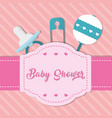 baby shower icon set design vector image vector image