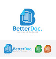 better document logo design vector image vector image