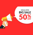 big sale special offer banner template with vector image