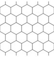 black honeycomb hexagon seamless on white vector image
