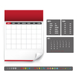 Blank Calendar for planning template vector image