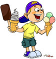 boy with ice-cream vector image vector image